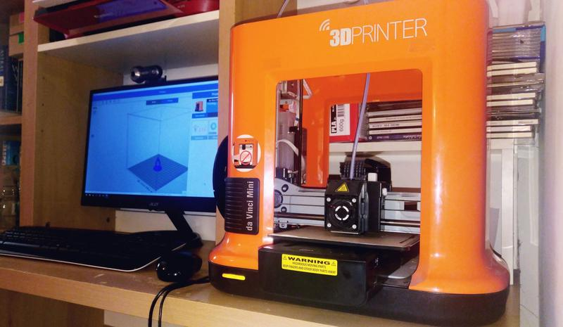 The printer can be controlled via a USB-tethered PC or wirelessly over Wi-Fi.