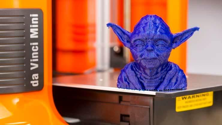 Look at this Yoda bust. It is smooth and pretty detailed, making it suitable for professional applications.