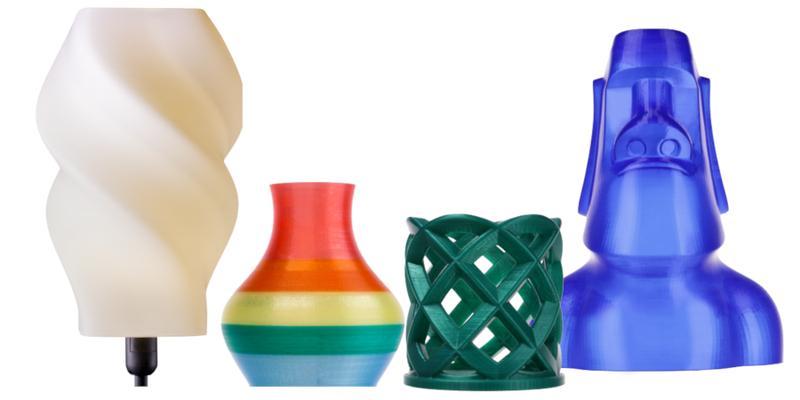 models printed on the XYZprinting da Vinci Super 3D printer