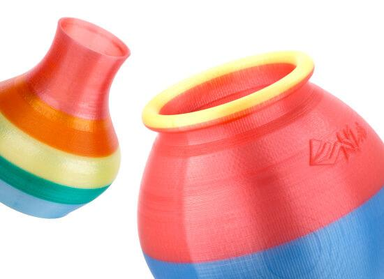 The vases look fine and enough smooth. The various colored sections perfectly combine.