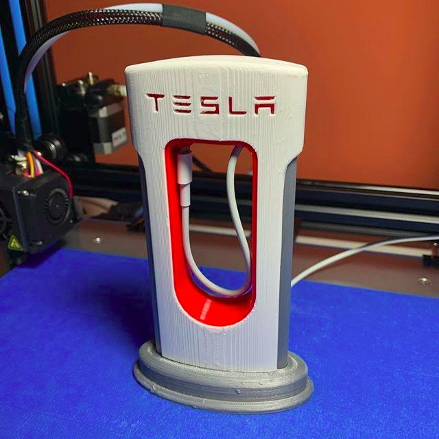 The build area of 11.8 x 11.8 x 11.8 inches (300 x 300 x 300 mm) lets you print just about anything, even a small Tesla Supercharger.