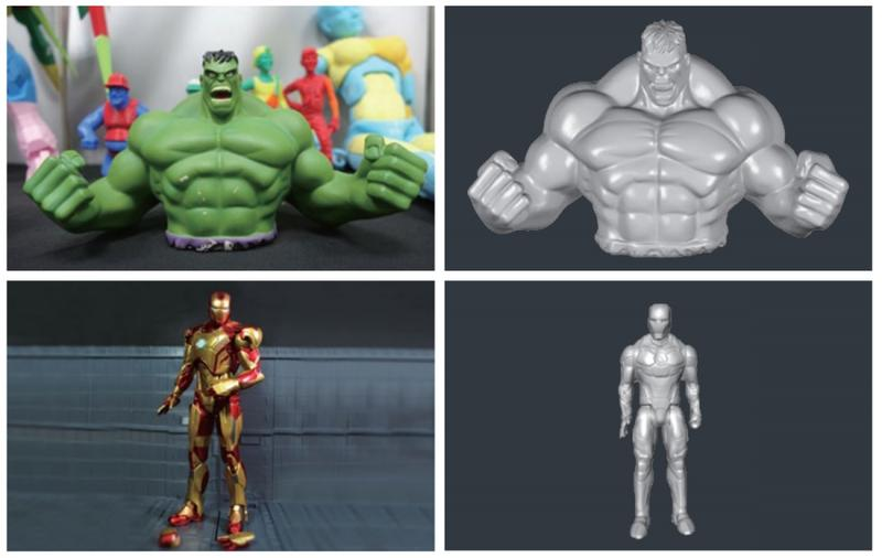 These 3D scanned models look well-detailed and dimensionally accurate.