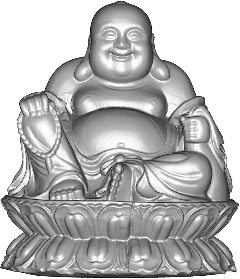 3d model of the budha