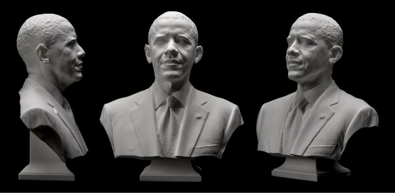 The scanner was even used to create the first 3D portrait of an American president, Barack Obama.