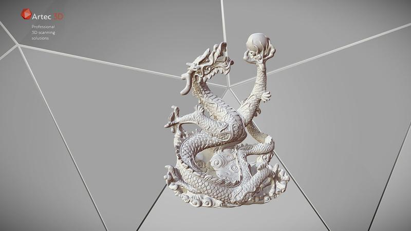 On the whole, Artec Leo delivers a detailed digital reproduction of every scanned object. Look at the Dragon with pearl pictured below to get an idea of its capability.