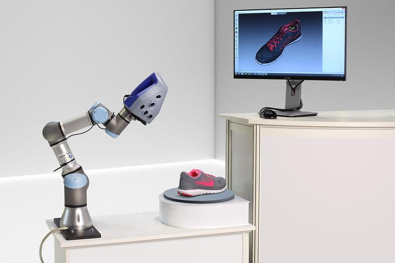 Artec RoboticScan 3D Scanner scanned the sneaker