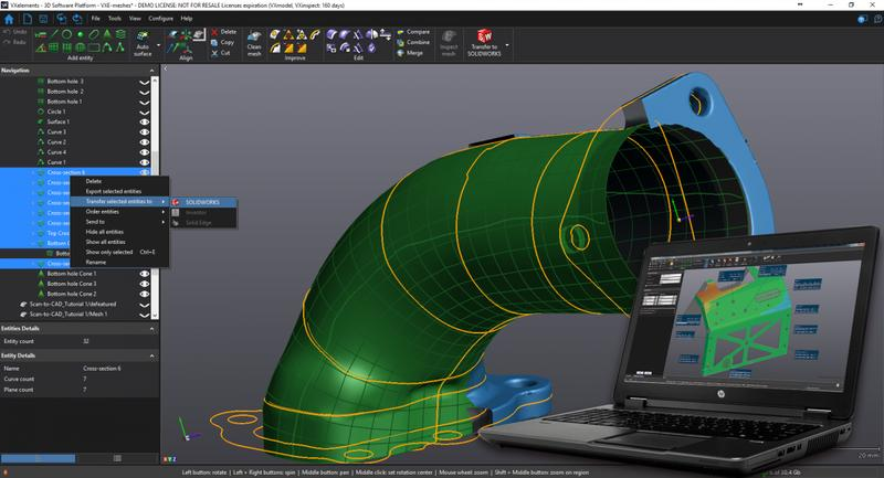 You might combine your HandyPROBE with Creaform MetraSCAN 3D to accelerate the scanning process and improve the quality of the collected data.