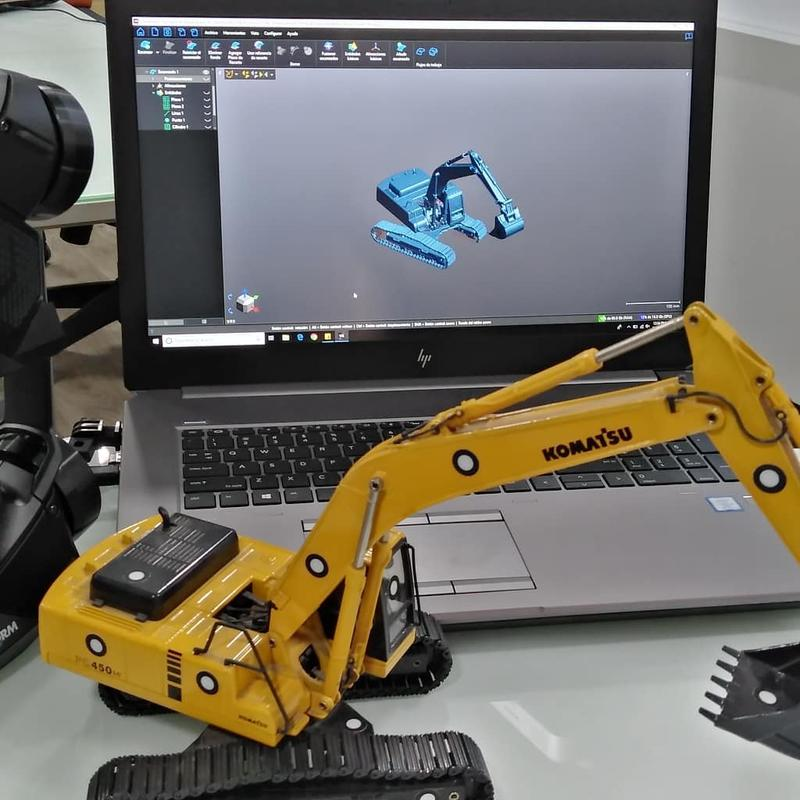 the 3d scan of excavator toy