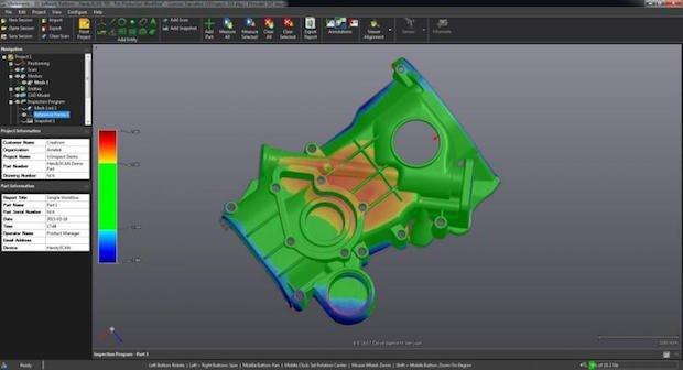 Creaform provides a 3D software and application suite, VXelements.
