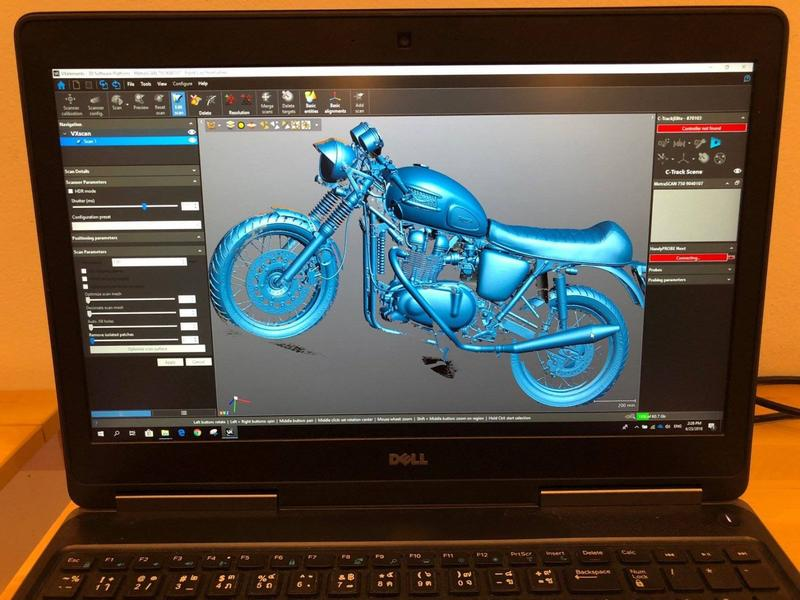 The pic shows a digital 3d Scan of a motorcycle. Look how accurate and complete it is.