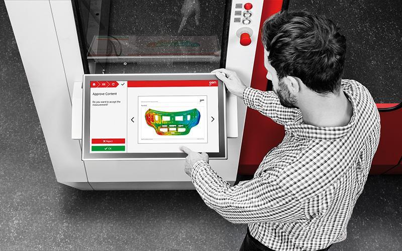 GOM ATOS Scanbox series 3D scanner interface