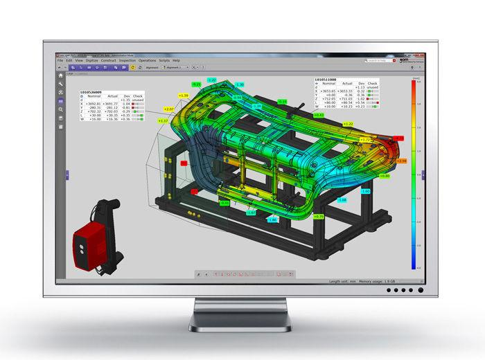The ATOS Triple scan series comes integrated with a dedicated parametric inspection software able to process and inspect 3D data with extreme accuracy