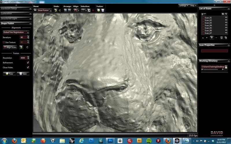 The lion's face is smaller than a fingernail. Despite the sizes, it shows a great resolution.