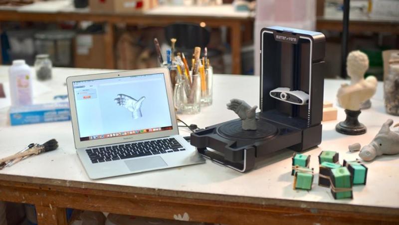 Matter and Form  MFS1V2 3D scanner with scaned object