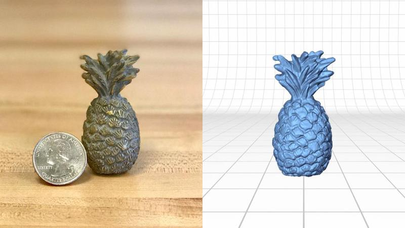 Look how accurate and extremely detailed this tiny pineapple is.