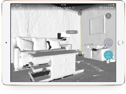 The stereo depth camera and quality software let you capture a decent level of detail both indoor and outdoor. After capturing the scene, you can immediately check the raw model.