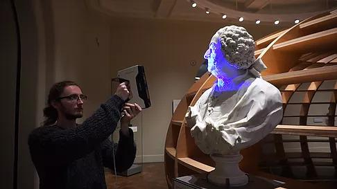 "For example, the EinScan-Pro has been used by MyMiniFactory to 3D scan sculptures from the Faculty of Classics, University of Cambridge at the ""Scan the World"" event."