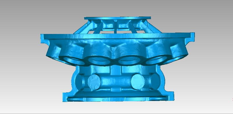or example, it has been used to scan and inspect some pieces of large gas turbines. Look at the precision of the below-pictured 3D model. Despite the big sizes, the scanner has been able to deliver great dimensional accuracy.