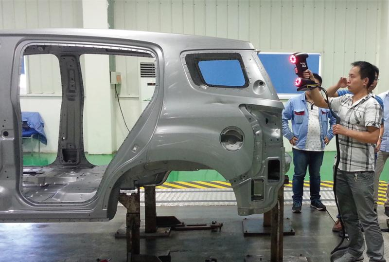 car body scanning peocess