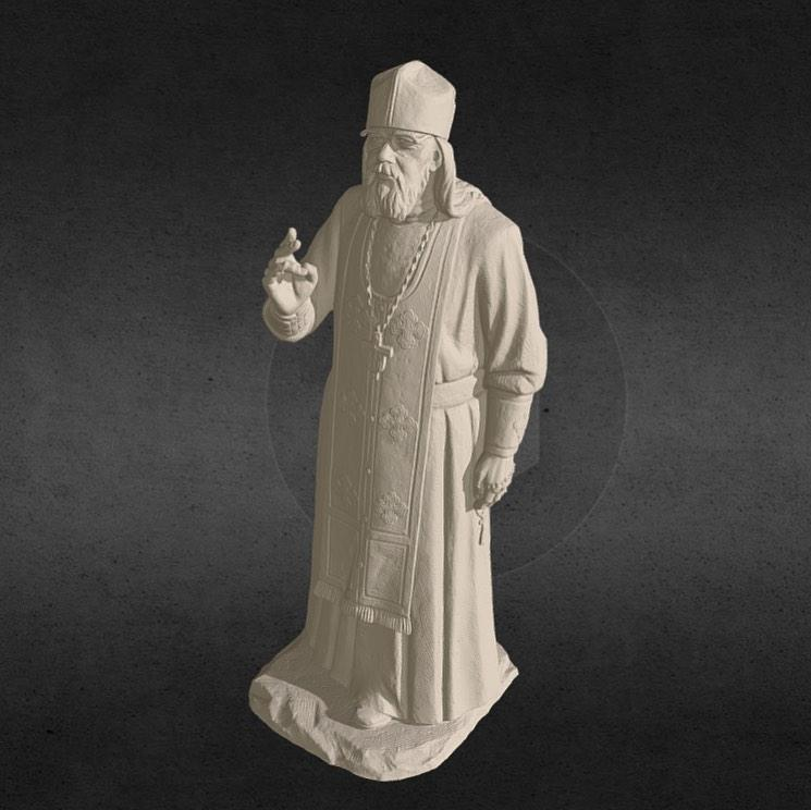 Look at this statue of an Orthodox Priest. It has been scanned by the Calibry Team. Notice how accurate and detailed it is.