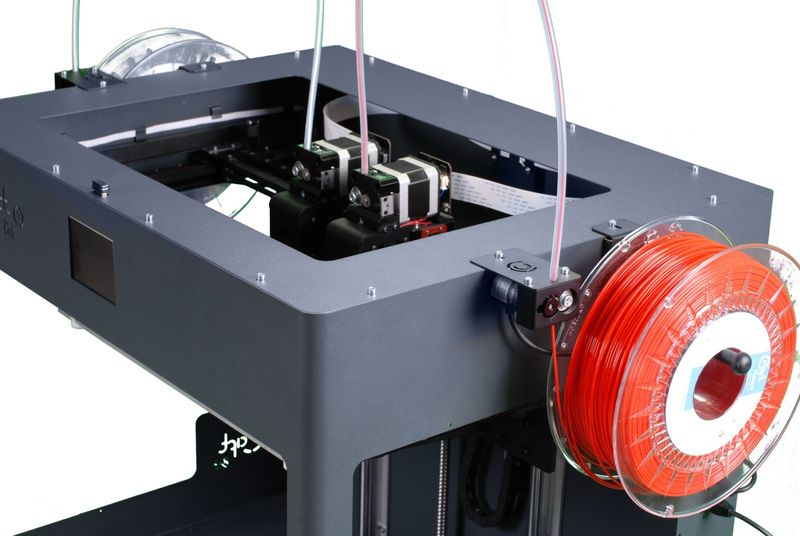The Craftbot Plus prints with 1.75 mm filament, providing you with a wide choice of materials.