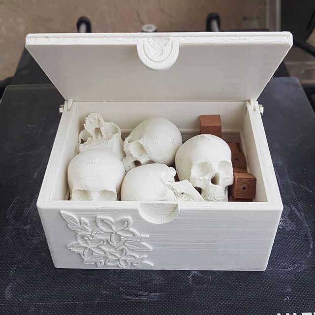 A box full of skulls