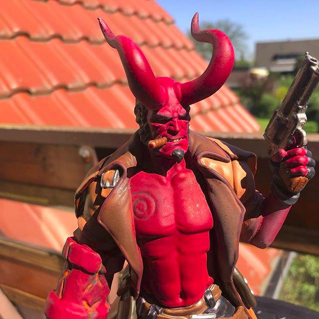 A model of the Hellboy