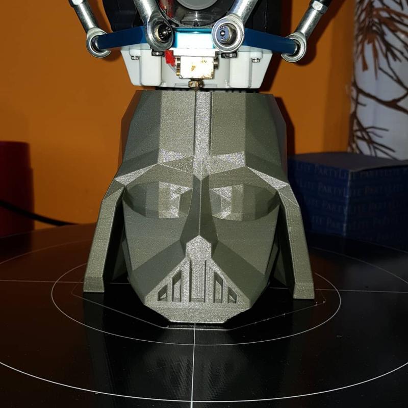 a Darth Vader helmet