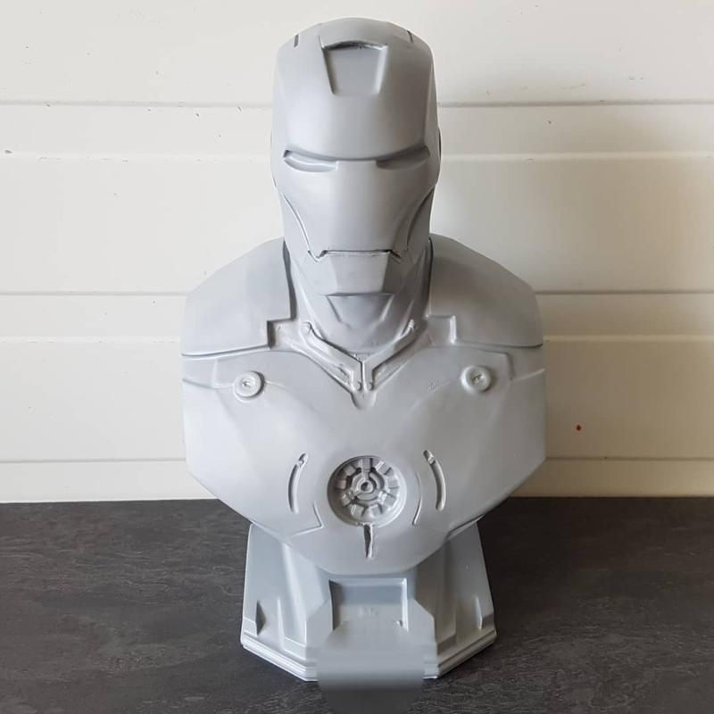 PLA-made Iron Man's bust appears