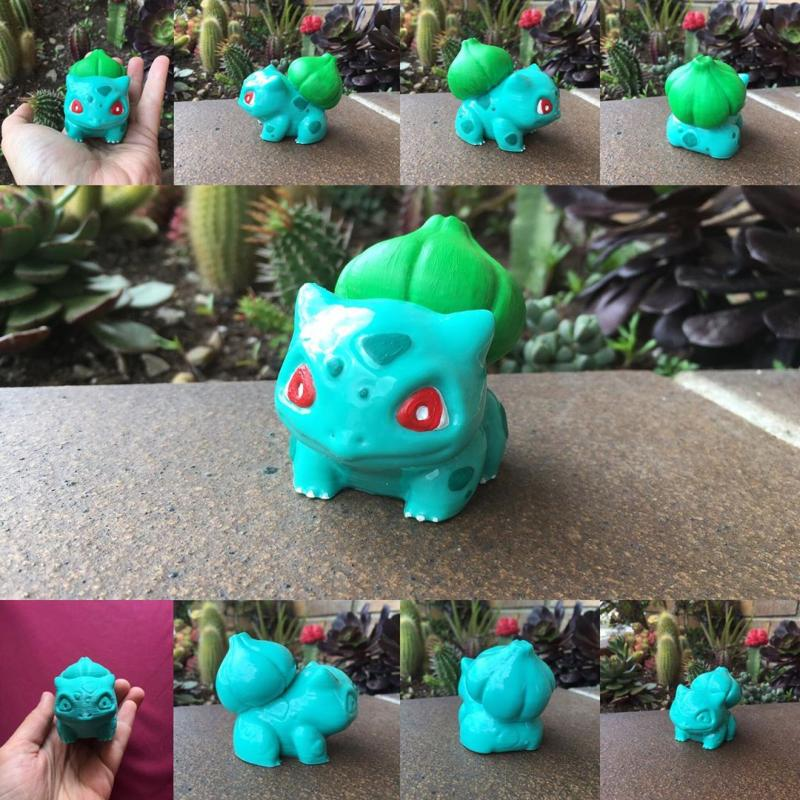 ABS-made Bulbasaur at 0.2 mm height