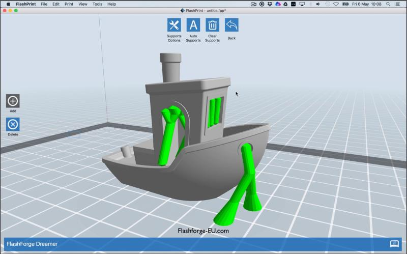 3D model on computer