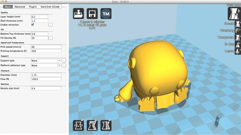 3d model on computer