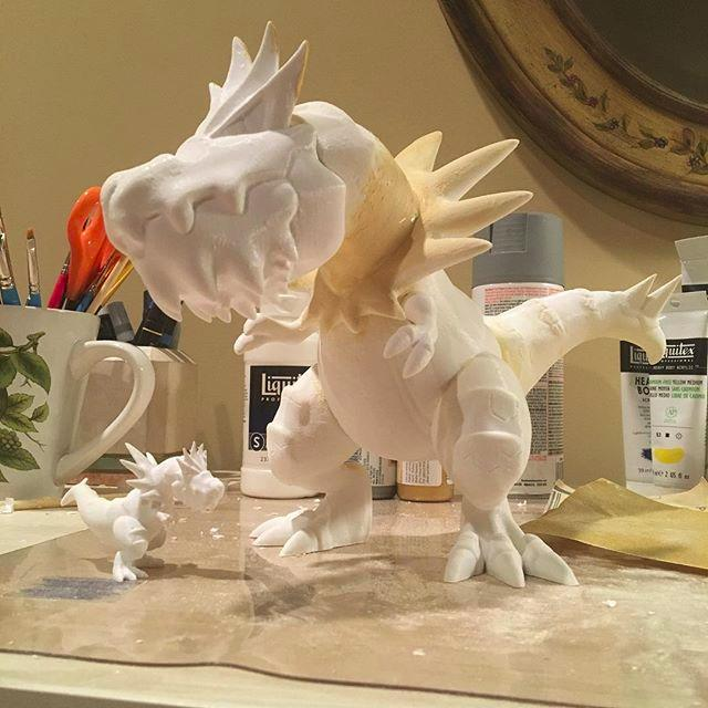two models of dragons