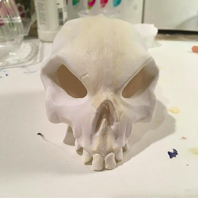 shape of 3D printed skull