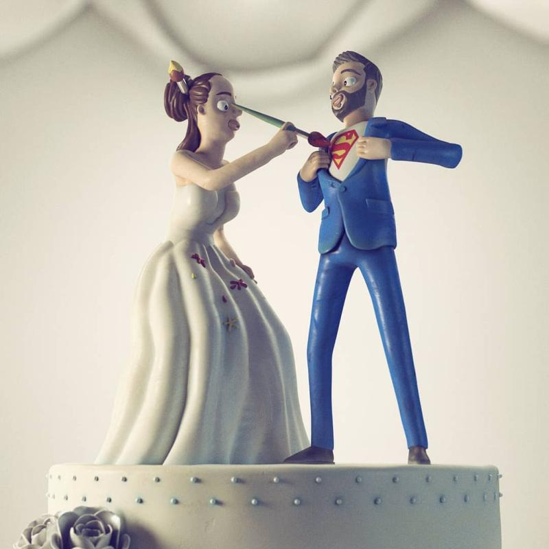 3D Printed wedding cake topper