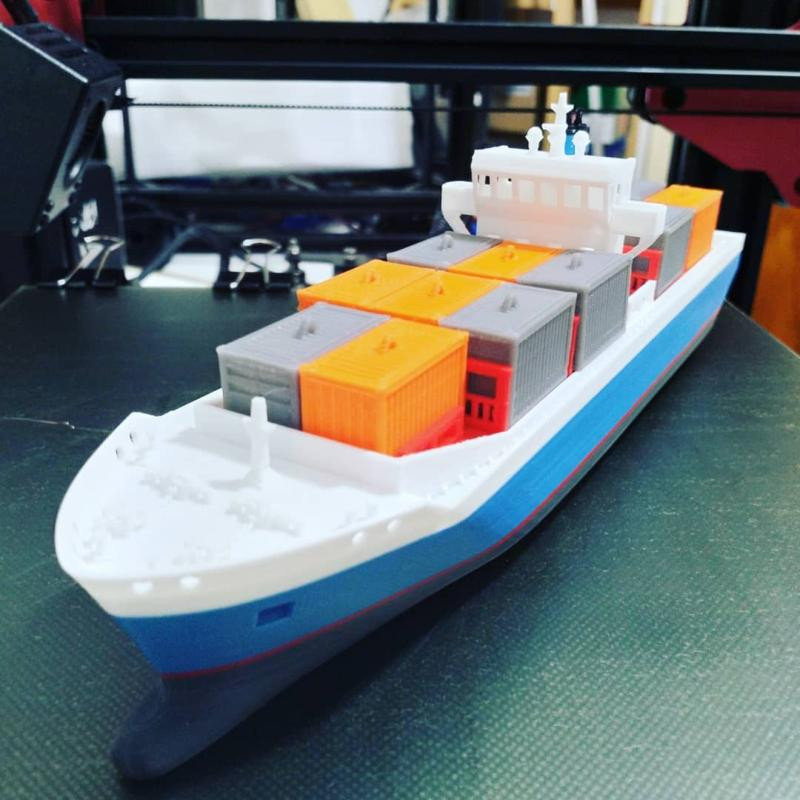 the Emma boat from the Maersk line