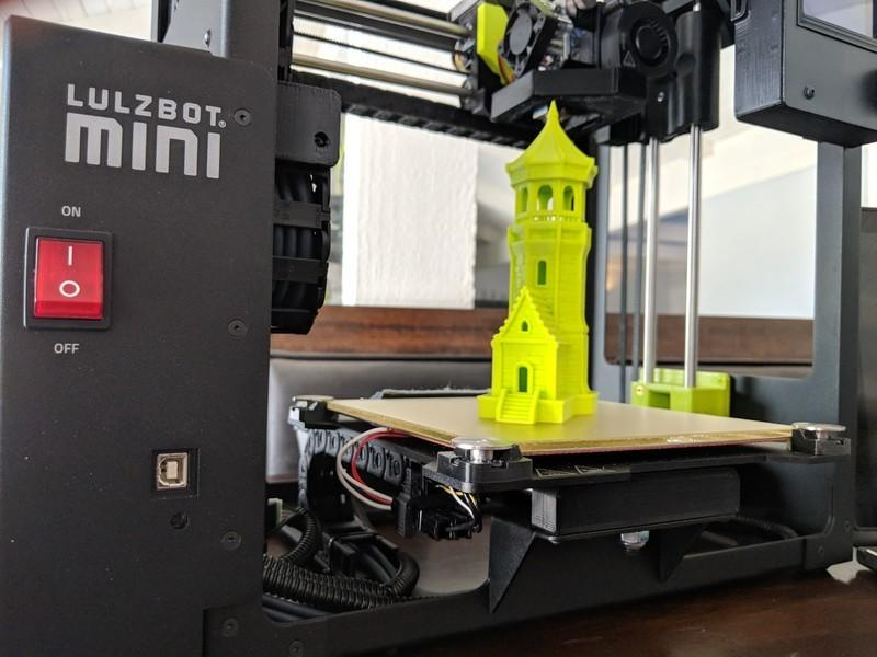 Castle tower on 3d printer