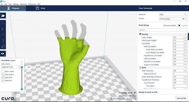 3D model on the computer