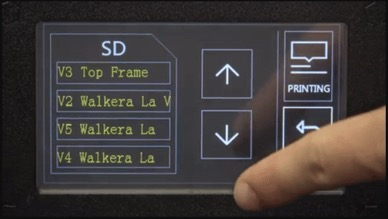 A demonstration of how intuitive the Wanhao Duplicator i3 Plus LCD interface is.